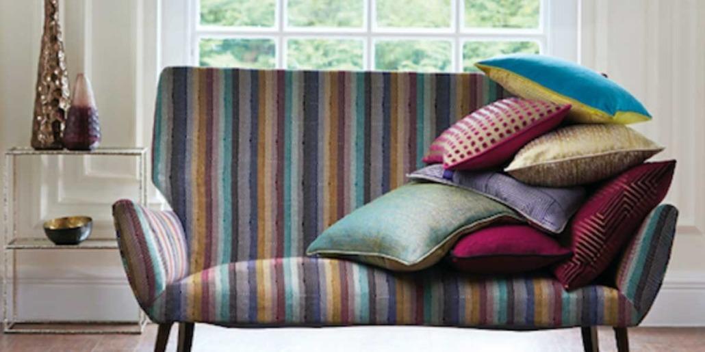 Colourful Sofa & Pillows