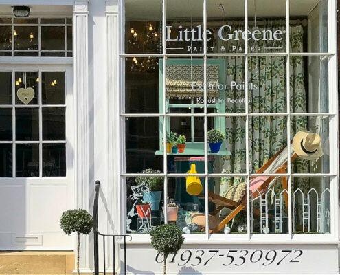 little green paint winning window